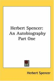 Cover of: Herbert Spencer