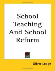 Cover of: School Teaching And School Reform