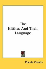 Cover of: The Hittites And Their Language
