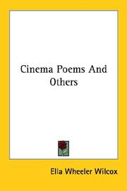 Cover of: Cinema Poems And Others