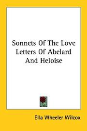 Cover of: Sonnets Of The Love Letters Of Abelard And Heloise