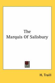 Cover of: The Marquis of Salisbury