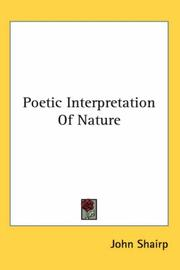 Cover of: Poetic Interpretation of Nature |