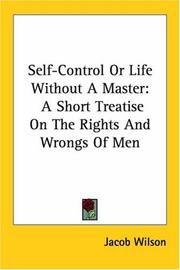 Cover of: Self-Control Or Life Without A Master