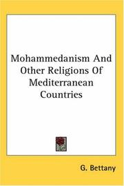 Cover of: Mohammedanism And Other Religions of Mediterranean Countries