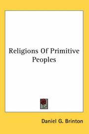 Cover of: Religions Of Primitive Peoples