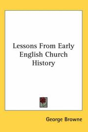 Cover of: Lessons From Early English Church History