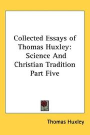 Cover of: Collected Essays of Thomas Huxley