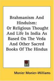 Cover of: Brahmanism And Hinduism