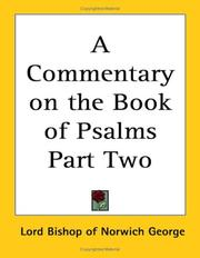 Cover of: A Commentary on the Book of Psalms Part Two
