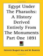 Cover of: Egypt under the Pharaohs