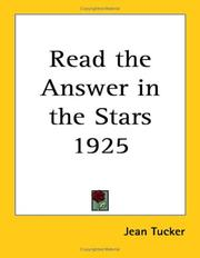 Cover of: Read the Answer in the Stars 1925