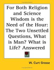 Cover of: For Both Religion and Science Wisdom is the Need of the Hour