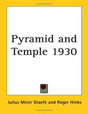Cover of: Pyramid and Temple 1930