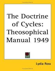 Cover of: The Doctrine of Cycles | Lydia Ross
