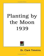 Cover of: Planting by the Moon 1939