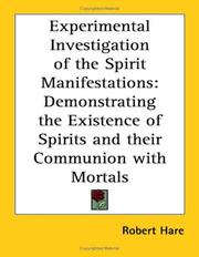 Cover of: Experimental Investigation of the Spirit Manifestations