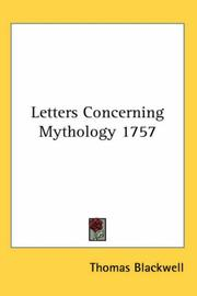 Cover of: Letters Concerning Mythology 1757