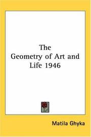 Cover of: The Geometry of Art and Life 1946 | Matila Ghyka