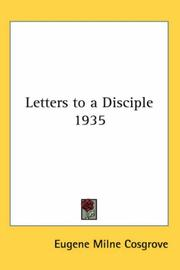 Letters to a Disciple 1935