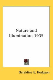 Cover of: Nature and Illumination 1935