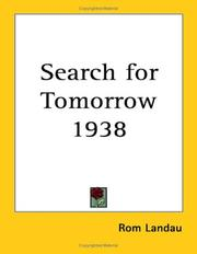 Cover of: Search for Tomorrow 1938