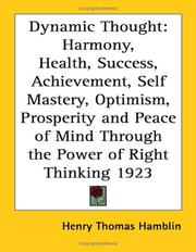 Cover of: Dynamic Thought | Henry Thomas Hamblin