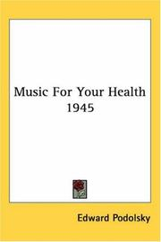 Cover of: Music For Your Health 1945