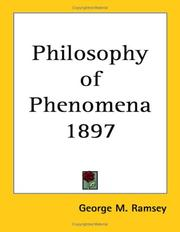 Cover of: Philosophy of Phenomena 1897