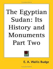 Cover of: The Egyptian Sudan: its history and monuments.