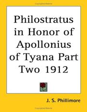 Cover of: Philostratus in Honor of Apollonius of Tyana Part Two 1912