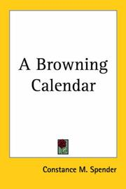 Cover of: A Browning Calendar