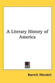 Cover of: A literary history of America