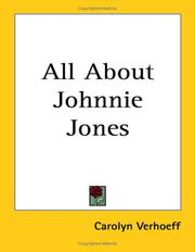 Cover of: All About Johnnie Jones