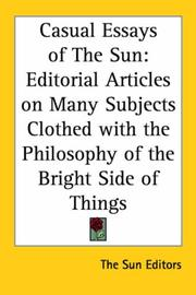 Cover of: Casual Essays of the Sun