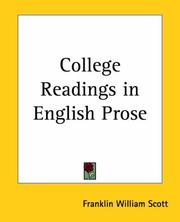 Cover of: College Readings in English Prose