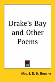 Cover of: Drake's Bay And Other Poems