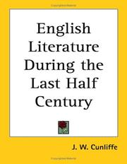 Cover of: English Literature During the Last Half Century