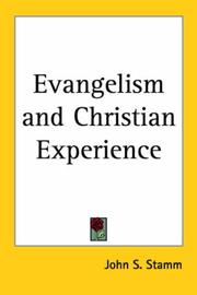 Cover of: Evangelism and Christian Experience