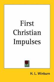 Cover of: The First Christian Impulses