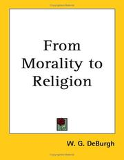 Cover of: From Morality to Religion