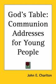 Cover of: God's Table