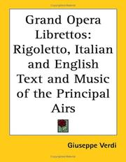 Cover of: Grand Opera Librettos | Giuseppe Verdi
