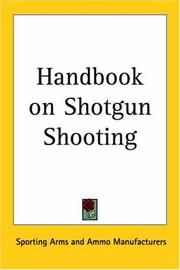 Cover of: Handbook on Shotgun Shooting