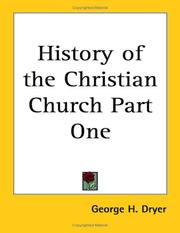Cover of: History of the Christian Church Part One