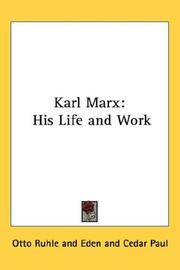 Cover of: Karl Marx | Otto Ruhle