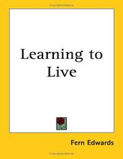 Cover of: Learning to Live | Fern Edwards