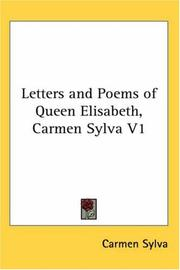 Cover of: Letters and poems of Queen Elisabeth (Carmen Sylva)