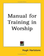 Cover of: Manual for Training in Worship