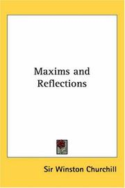 Cover of: Maxims and Reflections